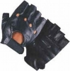 Fingerless Leather Biker Gloves