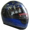 Streetz Full Blue Graffiti Helmet - 5002